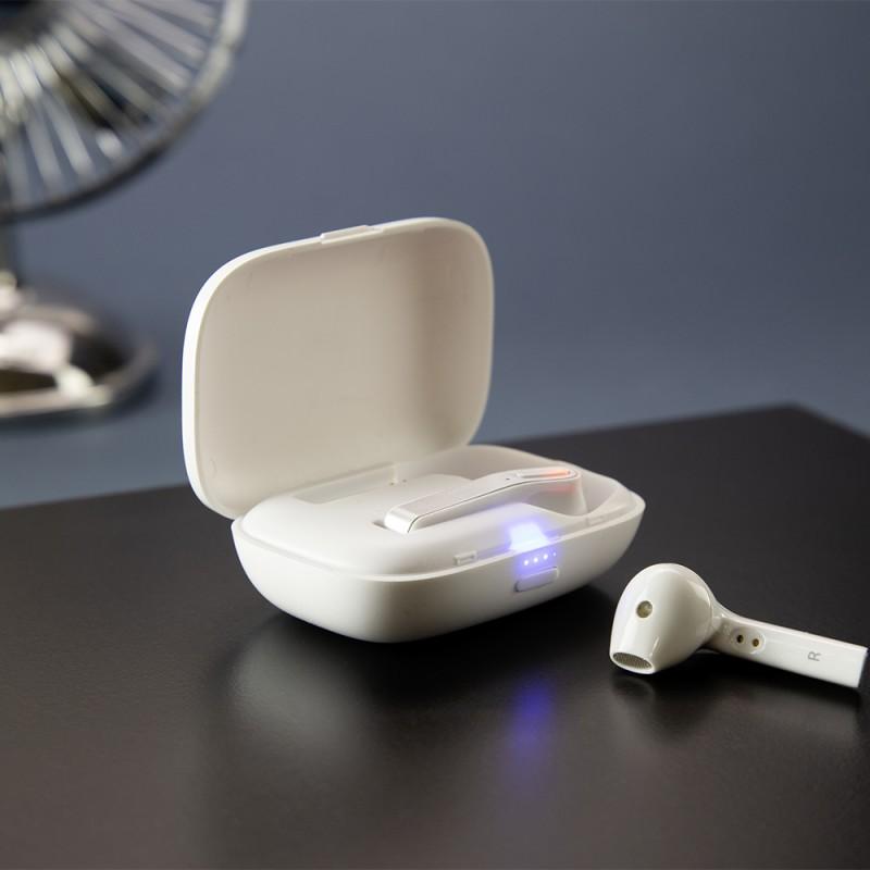 gadżety firmowe do smartfona słuchawki bezprzewodowe
