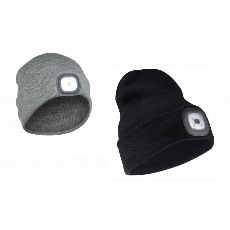 zimowe gadżety firmowe czapka z latarką