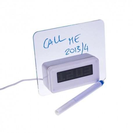 gadżety reklamowe do biura tabliczka z rozdzielaczem usb zegarek
