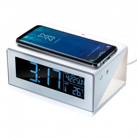 gadżety reklamowe do biura zegar budzik ładowarka indukcyjna