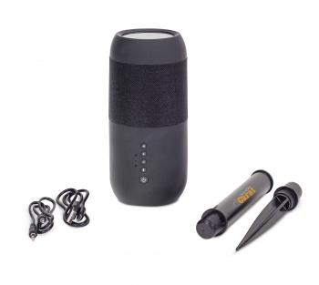 wakacyjne gadżety z logo bezprzewodowa latarnia głośnikowa