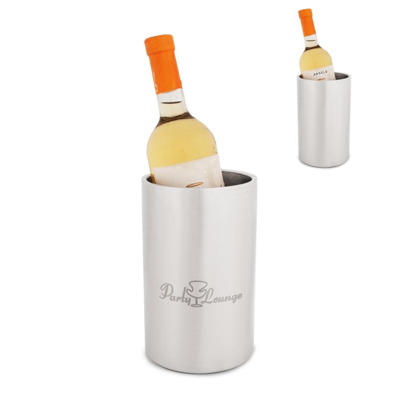 Akcesoria do wina metalowa chłodziarka