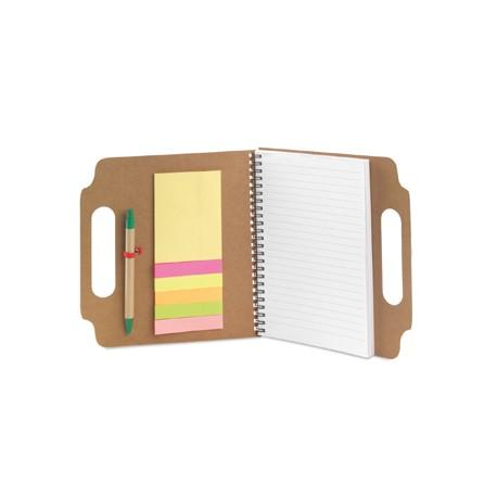 Gadżety na konferencje i szkolenia ekologiczny notes z karteczkami samoprzylepnymi