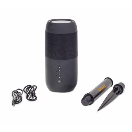 Muzyczne gadżety z logo Twojej firmy głośnik bezprzewodowy z lampką