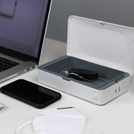 Antybakteryjne gadżety firmowe pudełko dezynfekujące z ładowarką indukcyjną