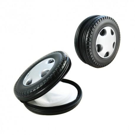 Gadżety reklamowe dla branży motoryzacyjnej etui na płyty cd w kształcie koła